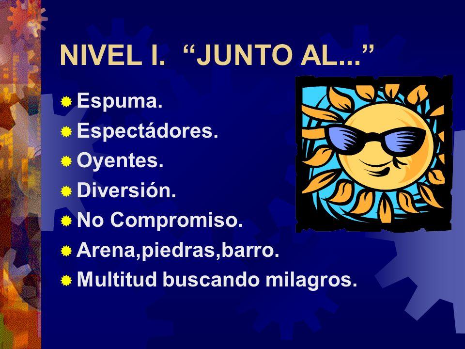 LUCAS 5:1-11. NIVEL I: Junto al 5:1. NIVEL II: Un poco más alla. 5:2,3. NIVEL III: Mar adentro. 5:4-11. TRES NIVELES DE MINISTERIO