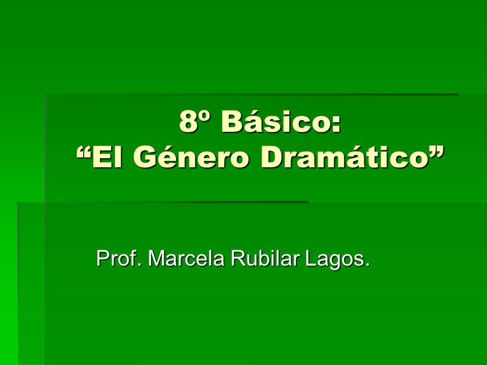 8º Básico: El Género Dramático Prof. Marcela Rubilar Lagos.