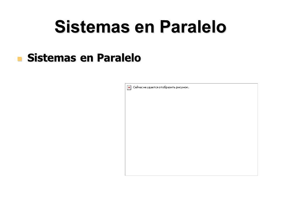 SISTEMAS EN RESERVA Un sistema en reserva es un sistema que está en estado desactivado y en paralelo con el sistema en operación, aguardando a entrar en servicio cuando el sistema básico operativo falle.