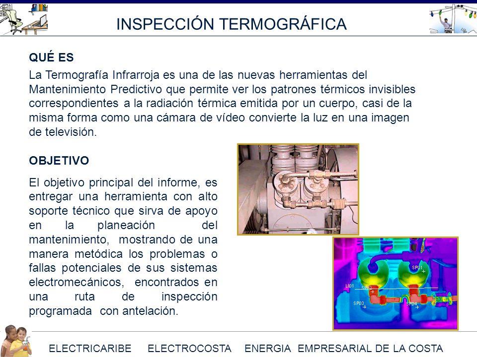 ELECTRICARIBE ELECTROCOSTA ENERGIA EMPRESARIAL DE LA COSTA INSPECCIÓN TERMOGRÁFICA QUÉ ES La Termografía Infrarroja es una de las nuevas herramientas