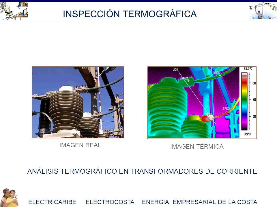 ELECTRICARIBE ELECTROCOSTA ENERGIA EMPRESARIAL DE LA COSTA INSPECCIÓN TERMOGRÁFICA ANÁLISIS TERMOGRÁFICO EN TRANSFORMADORES DE CORRIENTE IMAGEN REAL I