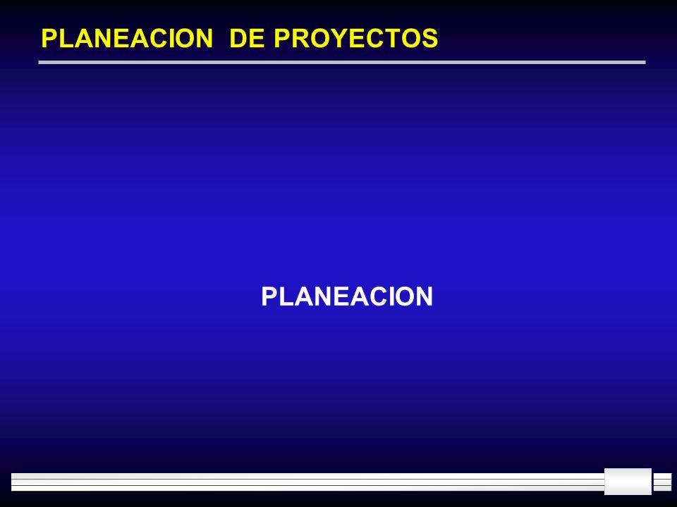 PLANEACION DE PROYECTOS PLANEACION