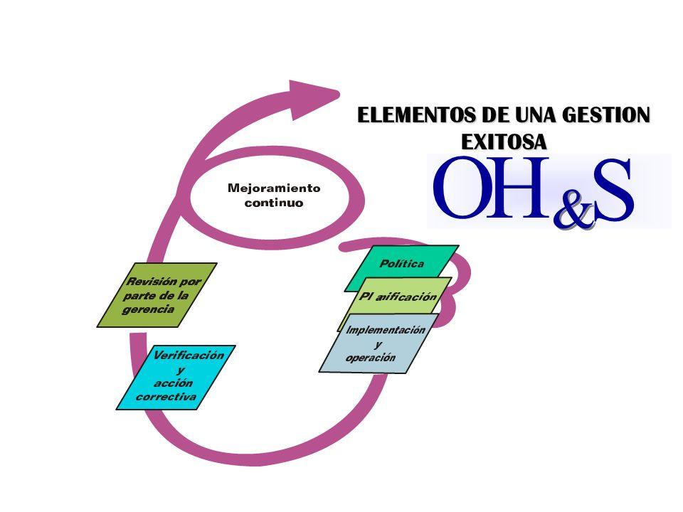 O H & & S ELEMENTOS DE UNA GESTION EXITOSA