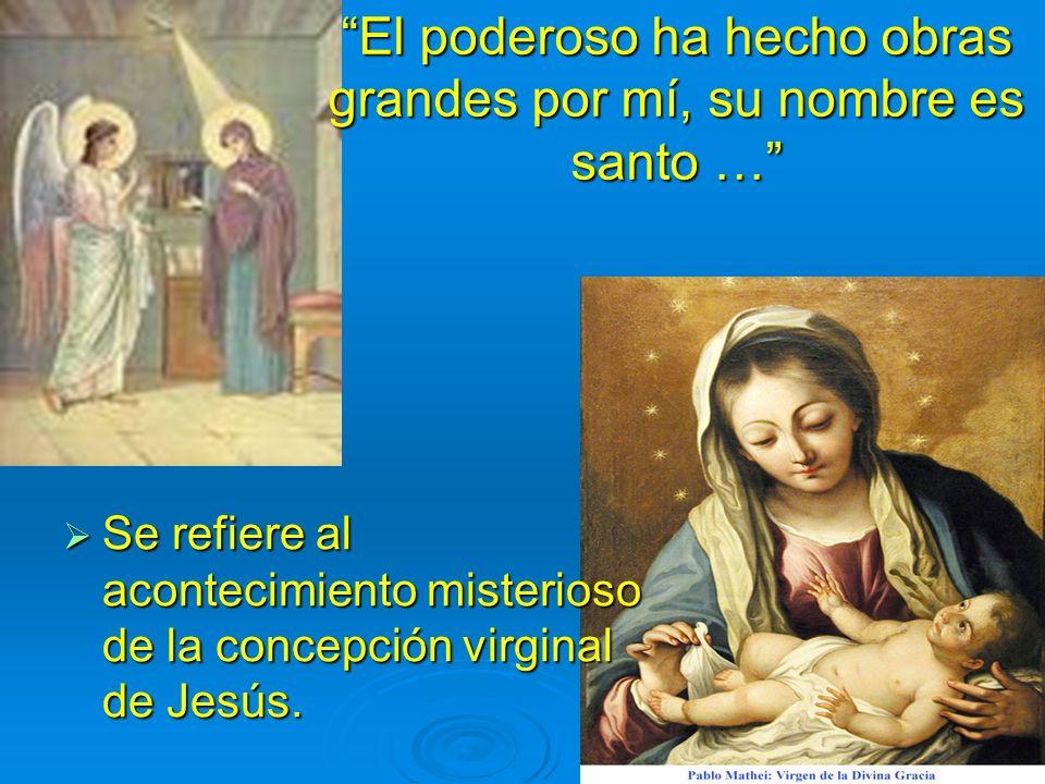 María testimonia la veneración que la comunidad cristiana sentirá de generación en generación María testimonia la veneración que la comunidad cristian