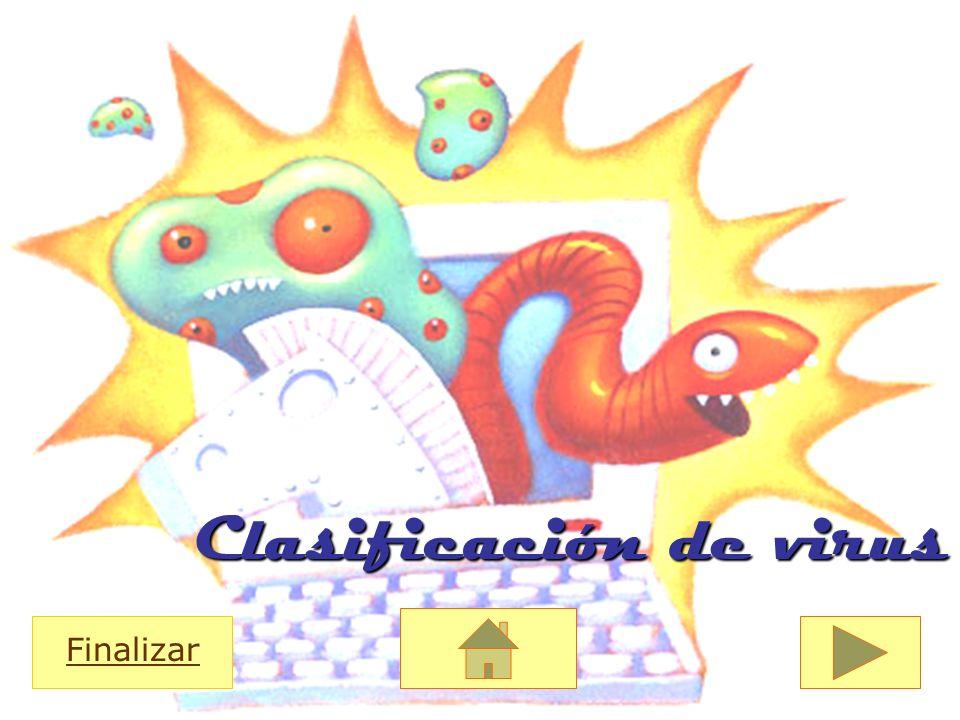 Clasificación de virus Finalizar