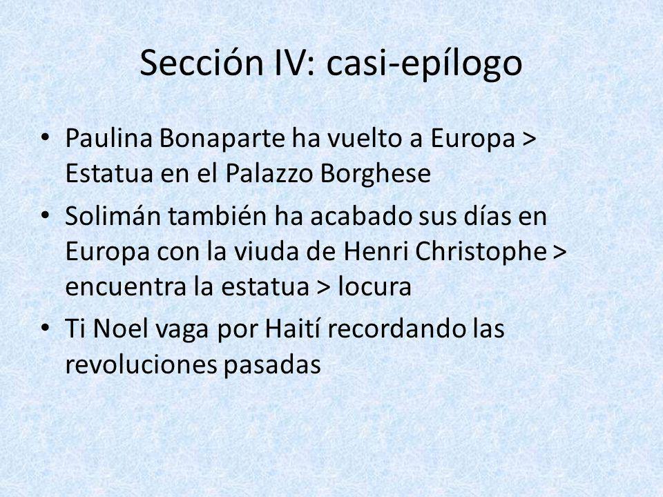Sección IV: casi-epílogo Paulina Bonaparte ha vuelto a Europa > Estatua en el Palazzo Borghese Solimán también ha acabado sus días en Europa con la vi