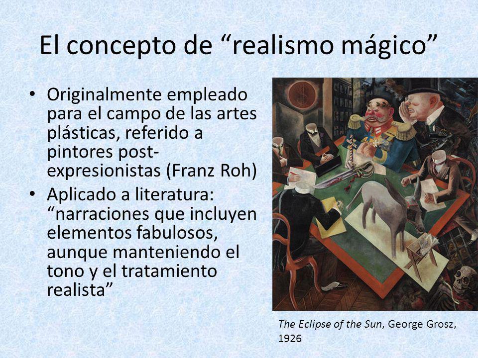 El concepto de realismo mágico Originalmente empleado para el campo de las artes plásticas, referido a pintores post- expresionistas (Franz Roh) Aplic