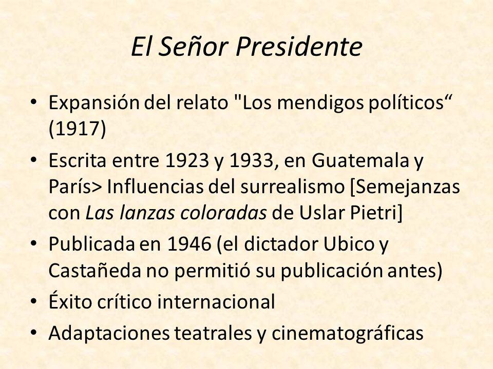 Manuel Estrada Cabrera Dictador de Guatemala (1899- 1920) Personalidad carismática y violenta Régimen de terror Intentos de derrocarlo y de asesinarlo Contrato con la United Fruit Company (colonialismo económico)