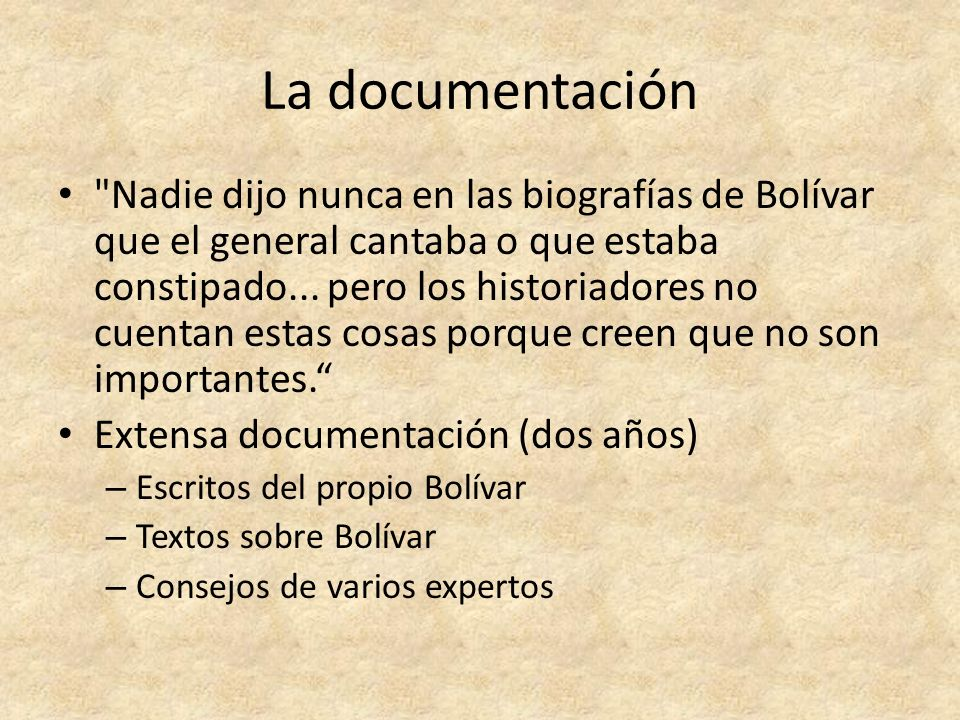 La documentación