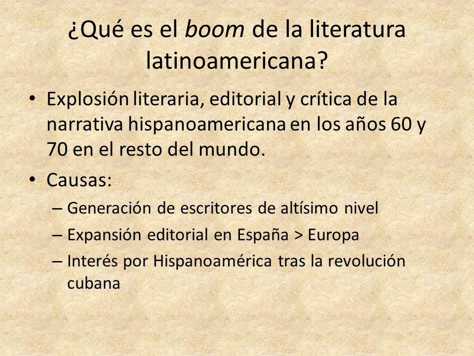 ¿Qué es el boom de la literatura latinoamericana? Explosión literaria, editorial y crítica de la narrativa hispanoamericana en los años 60 y 70 en el