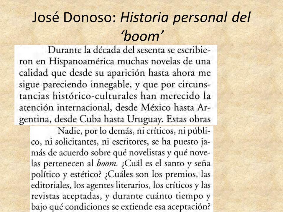 José Donoso: Historia personal del boom