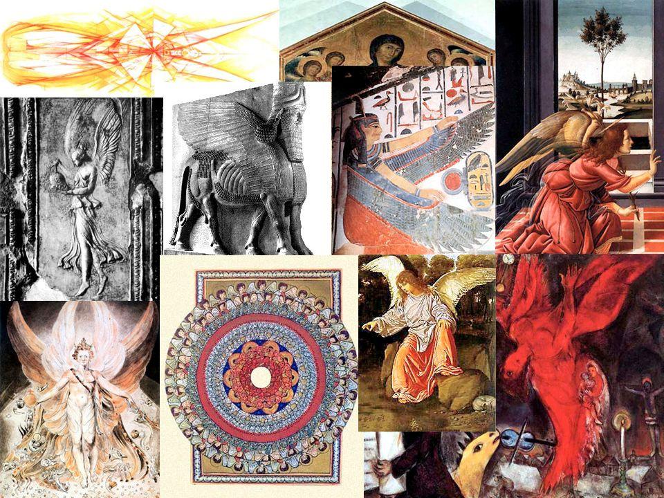 Los serafines est á n en la cima de la jerarqu í a y rodean el trono de Dios, son de color rojo y su atributo es el fuego.