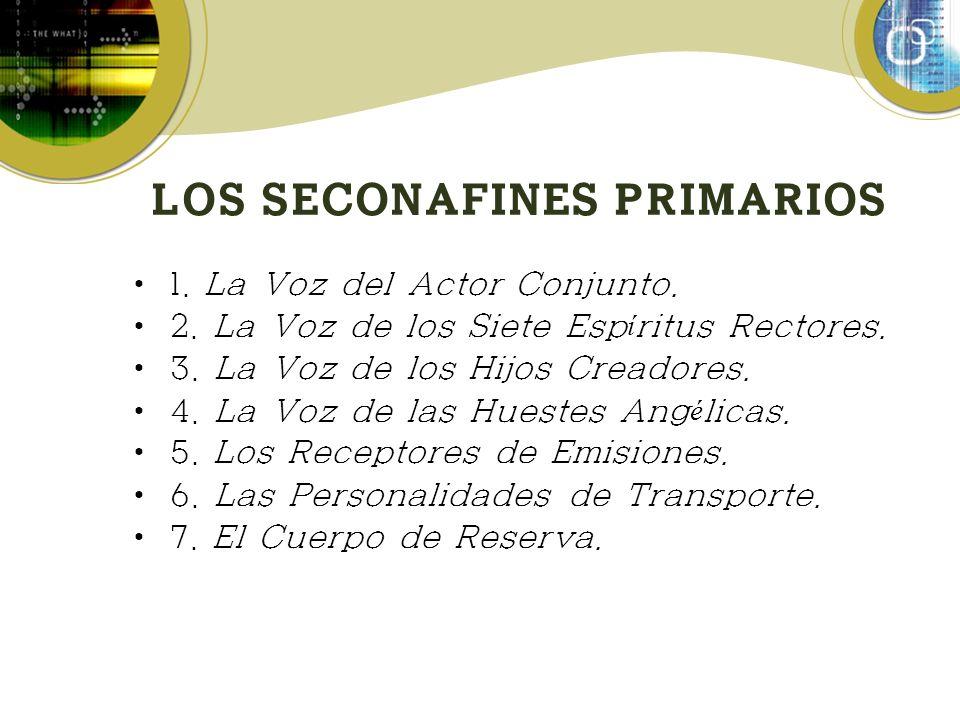 LOS SECONAFINES PRIMARIOS 1.La Voz del Actor Conjunto.