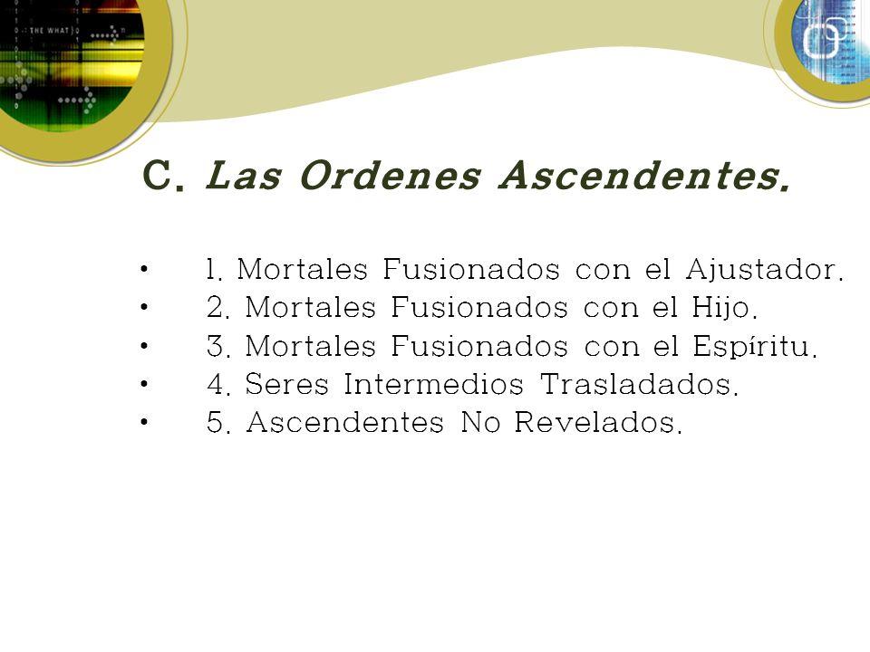 C.Las Ordenes Ascendentes. 1. Mortales Fusionados con el Ajustador.