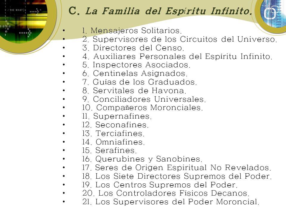 C.La Familia del Esp í ritu Infinito. 1. Mensajeros Solitarios.