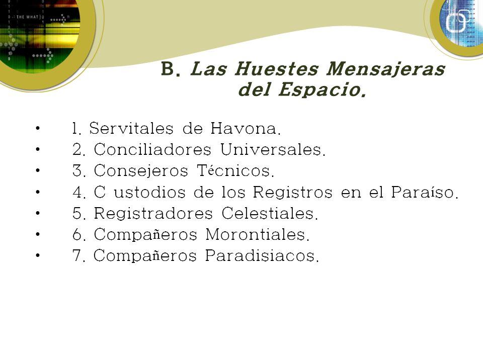 B.Las Huestes Mensajeras del Espacio. 1. Servitales de Havona.