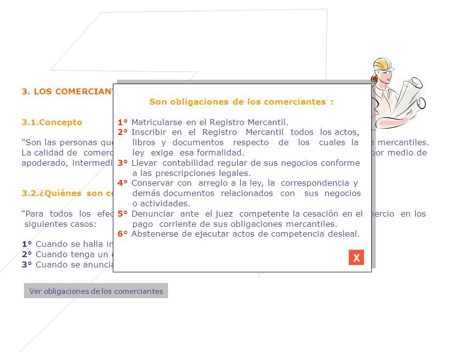 3. LOS COMERCIANTES 3.1.Concepto