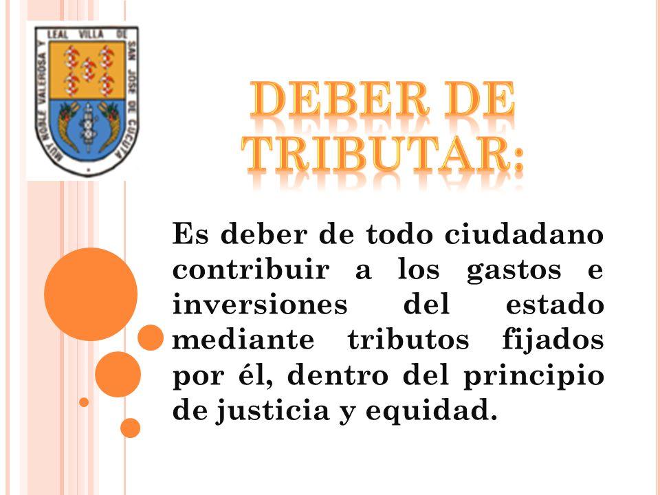 El municipio de Cúcuta goza de autonomía para establecer los tributos dentro de lo establecido por la ley IMPUESTOS DIRECTOPERSONALESREALESINDIRECTOREALES IMPUESTO REAL: Es el que aplica sobre las cosas prescindiendo de las personas.