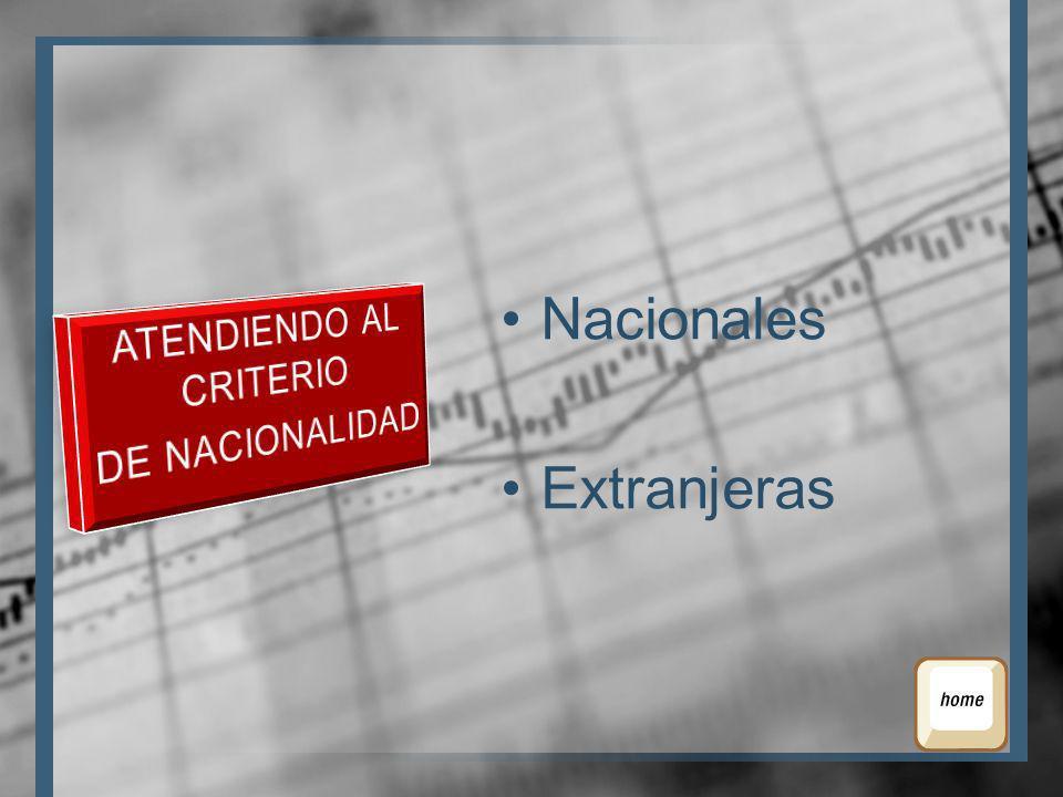 Nacionales Extranjeras