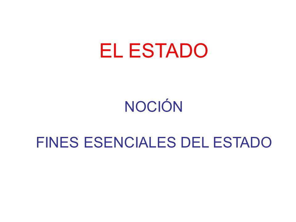EL ESTADO NOCIÓN FINES ESENCIALES DEL ESTADO
