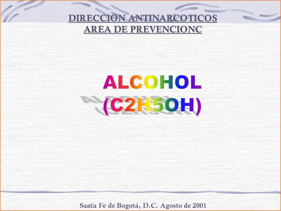 DIRECCION ANTINARCOTICOS AREA DE PREVENCIONC Santa Fe de Bogotá, D.C. Agosto de 2001