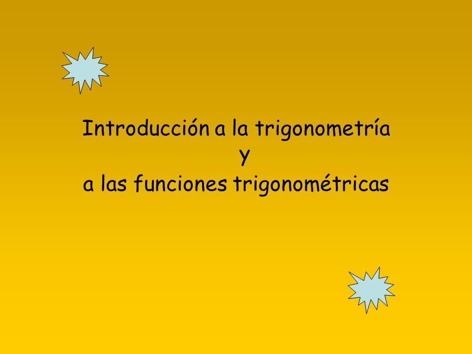 Un poco de Historia Trigonometría es una palabra de etimología griega, aunque no es una palabra griega.