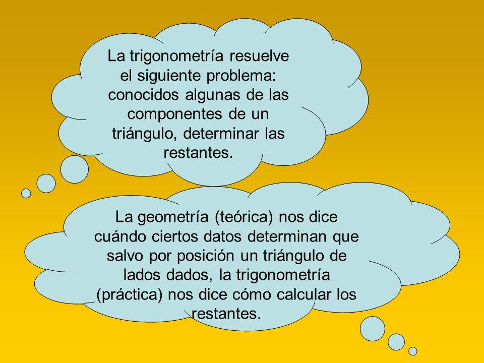 FUNCIONES TRIGONOMETRICAS Objetivo: Comprender que las funciones trigonométricas son razones entre lados de triángulos rectángulos