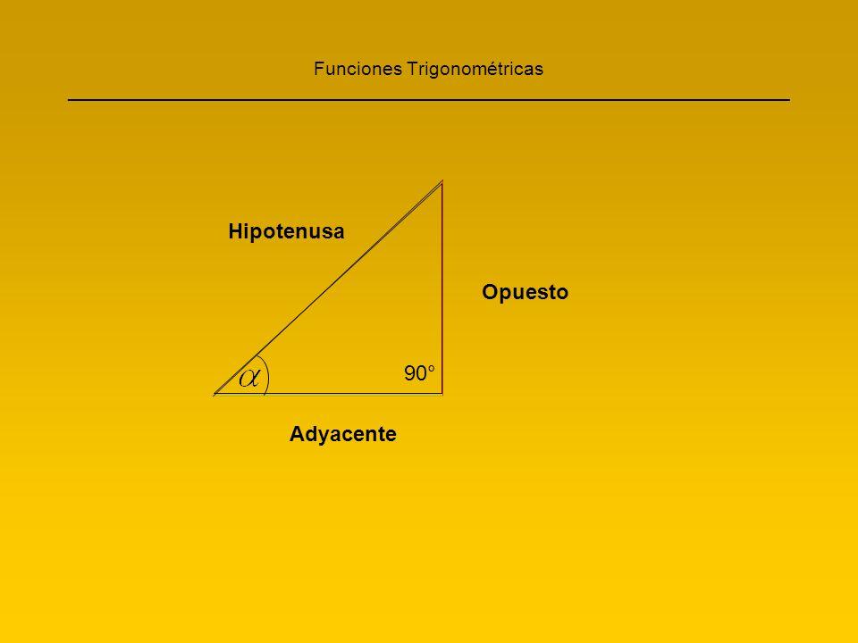 Funciones Trigonométricas ____________________________________________________________________ El Seno, Coseno y la Tangente se forman como una razón o una fracción.
