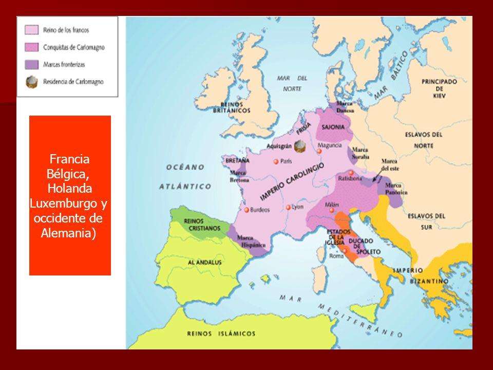 Francia Bélgica, Holanda Luxemburgo y occidente de Alemania)