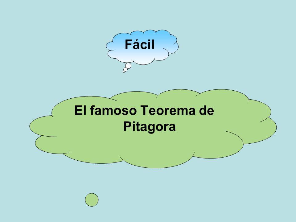 Fácil El famoso Teorema de Pitagora
