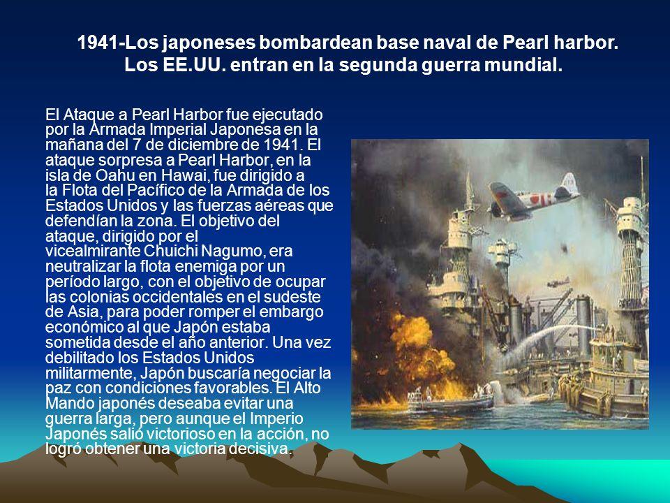 El Ataque a Pearl Harbor fue ejecutado por la Armada Imperial Japonesa en la mañana del 7 de diciembre de 1941. El ataque sorpresa a Pearl Harbor, en
