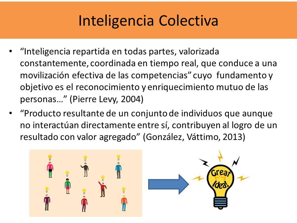Inteligencia repartida en todas partes, valorizada constantemente, coordinada en tiempo real, que conduce a una movilización efectiva de las competenc