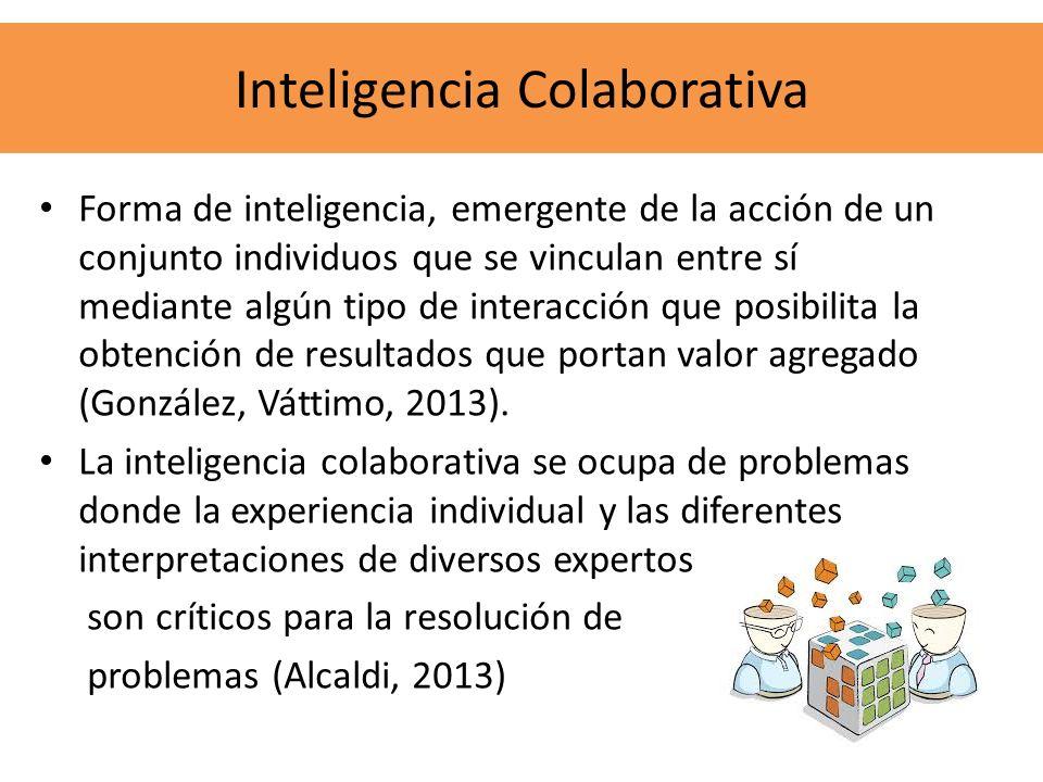 Forma de inteligencia, emergente de la acción de un conjunto individuos que se vinculan entre sí mediante algún tipo de interacción que posibilita la