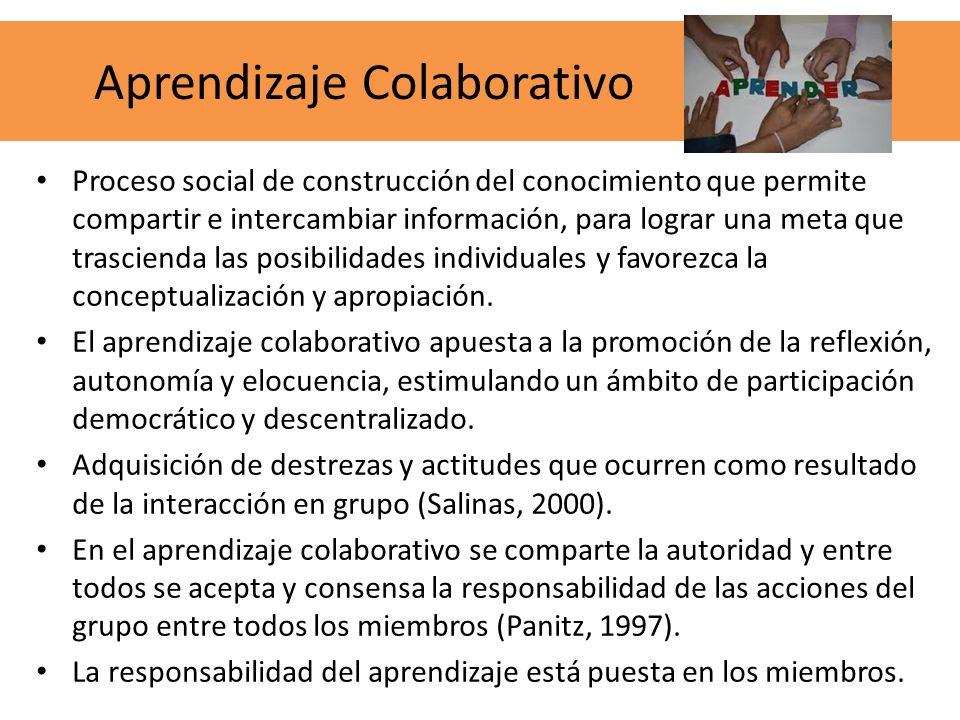 Proceso social de construcción del conocimiento que permite compartir e intercambiar información, para lograr una meta que trascienda las posibilidade