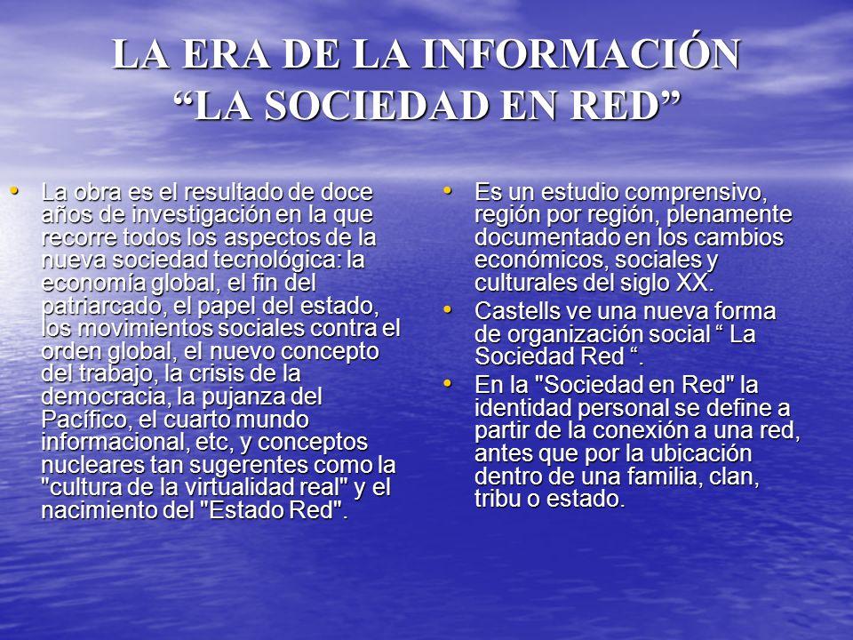 El primer volumen de la trilogía –LA SOCIEDAD RED- está dedicado principalmente a examinar la lógica de la red.