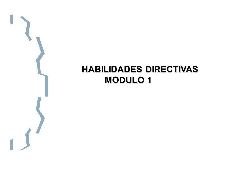 HABILIDADES DIRECTIVAS HABILIDADES DIRECTIVAS MODULO 1 MODULO 1