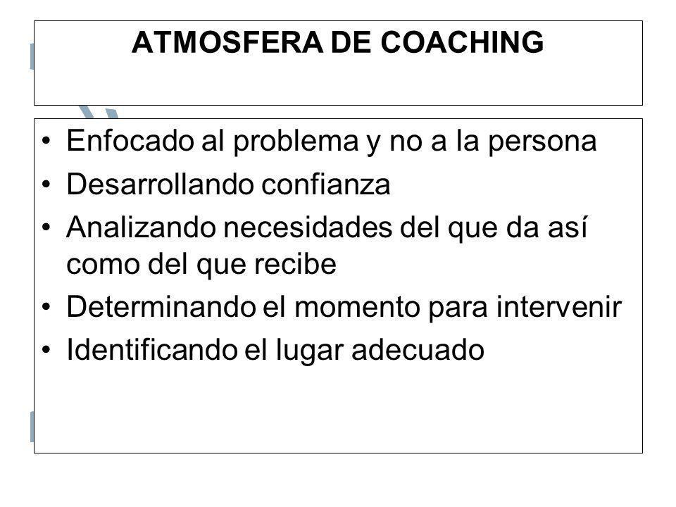 PRINCIPIOS CLAVE 1.Desarrollar expectativas realistas 2.Realizar observaciones y análisis sobre el comportamiento 3.Proporcionar retroalimentación 4.Identificar un modelo o ejemplo a seguir 5.Diseñar el proceso de Coaching para cada individuo.
