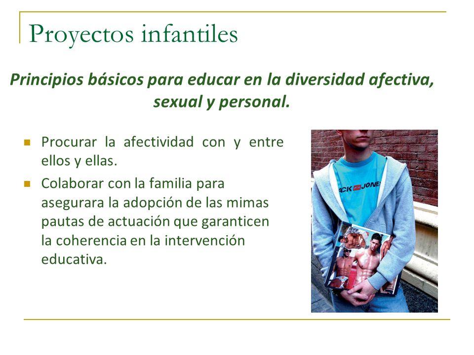 Proyectos infantiles Procurar la afectividad con y entre ellos y ellas. Colaborar con la familia para asegurara la adopción de las mimas pautas de act