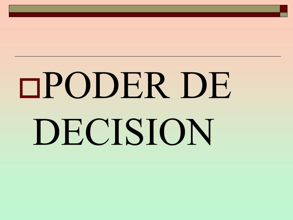 PODER DE DECISION