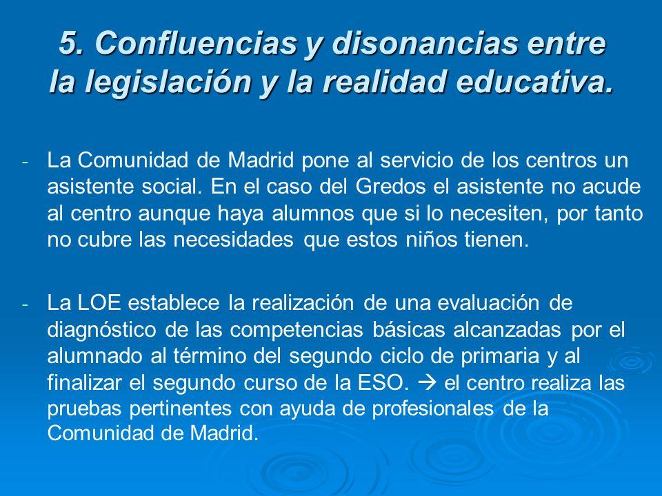 5. Confluencias y disonancias entre la legislación y la realidad educativa. - - La Comunidad de Madrid pone al servicio de los centros un asistente so