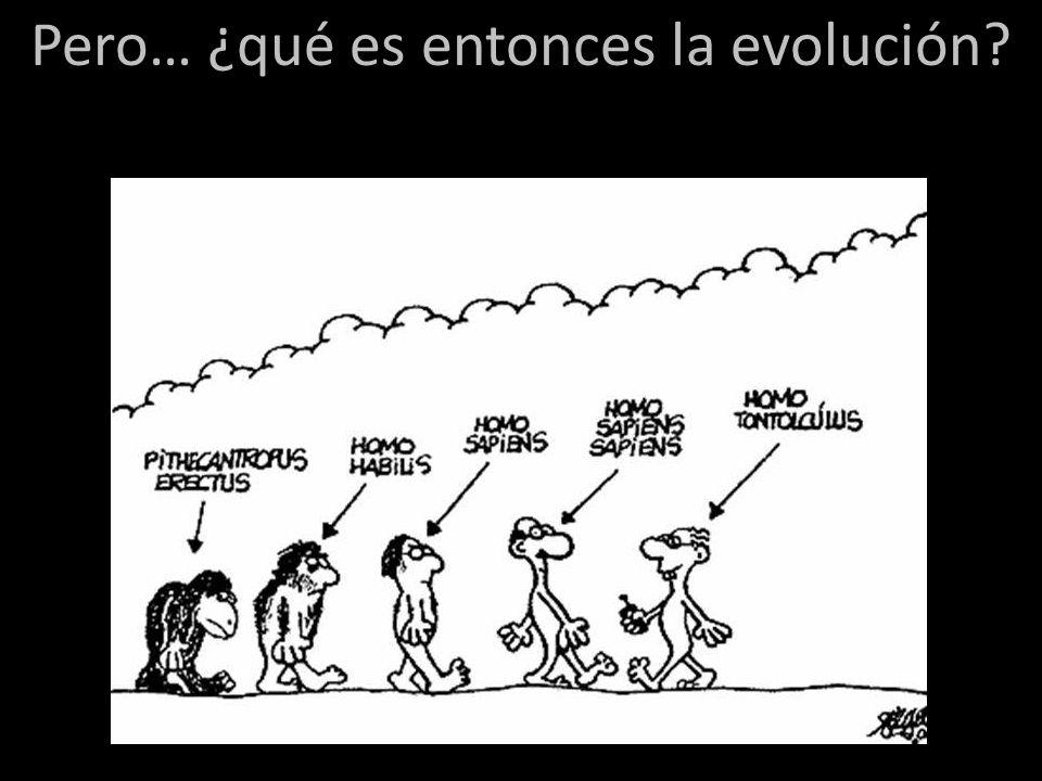 La evolución es el cambio en las frecuencias génicas de una población … De esta manera se verá que la evolución es una consecuencia inevitable de la naturaleza de los seres vivos.