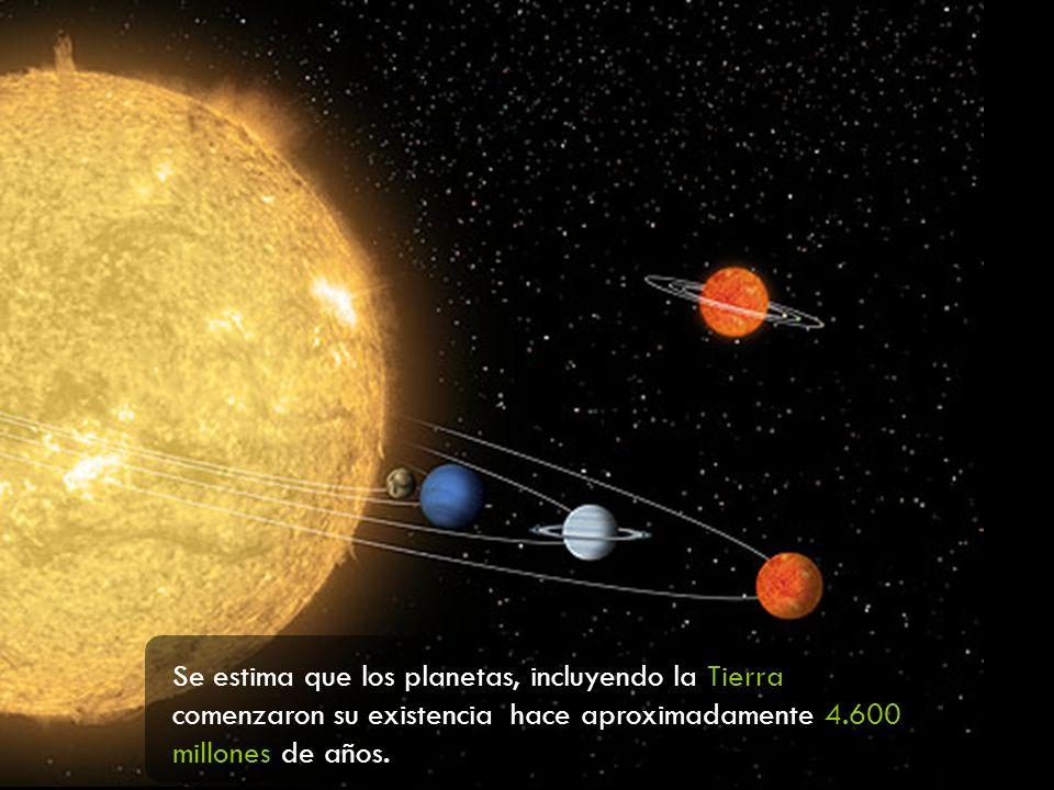 Se estima que los planetas, incluyendo la Tierra comenzaron su existencia hace aproximadamente 4.600 millones de años.