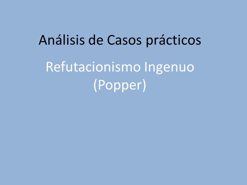 Refutacionismo Ingenuo (Popper) Análisis de Casos prácticos
