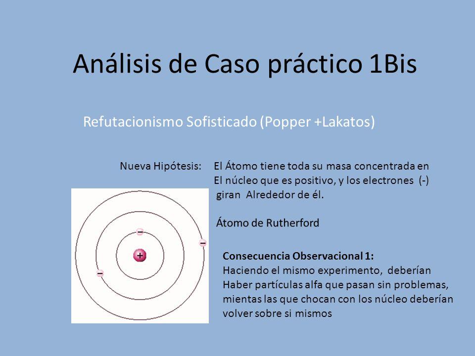 Análisis de Caso práctico 2 Bis Esta Hipótesis auxiliar : es el primer principio de Newton V= cte.