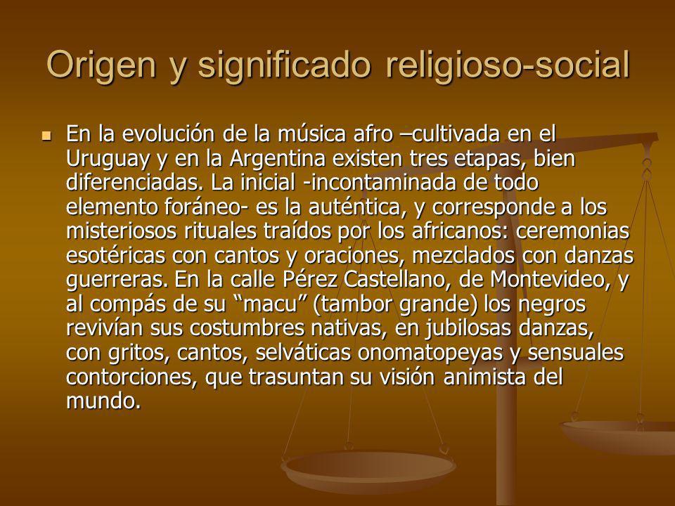 El candombe afro-uruguayo No es posible hablar del candombe sin antes referirinos a su instrumento privativo, que constituye esencia y alma del mismo: el tamboril.