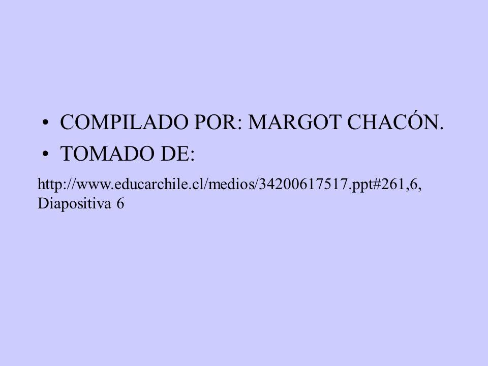 COMPILADO POR: MARGOT CHACÓN. TOMADO DE: http://www.educarchile.cl/medios/34200617517.ppt#261,6, Diapositiva 6
