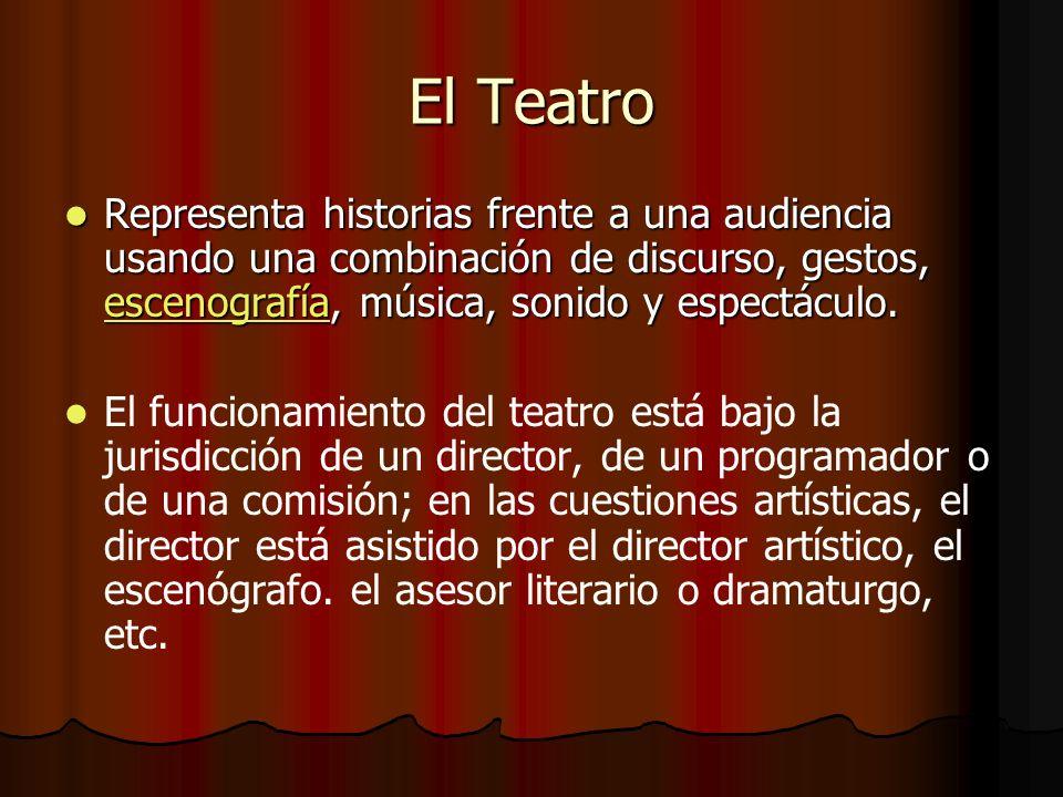 Representa historias frente a una audiencia usando una combinación de discurso, gestos, escenografía, música, sonido y espectáculo. Representa histori