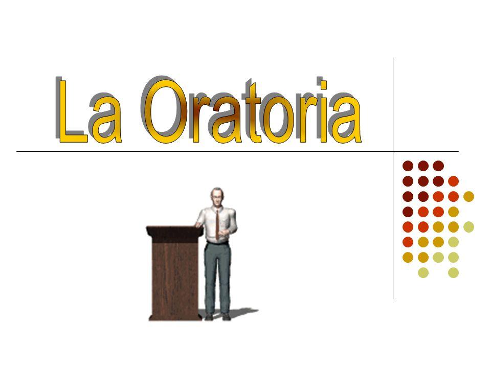 Concepto de Oratoria La Oratoria es un conjunto de estrategias, conceptos, tácticas y técnicas destinadas a que cada persona desarrolle sus propias capacidades en la comunicación oral, capacidad que es imprescindible para el correcto desempeño profesional en cualquier área de actividad para enseñar, comunicar, liderar, motivar, negociar.