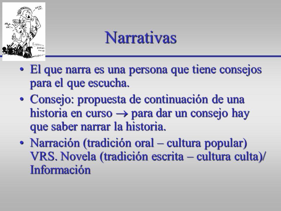 Ejercicio de disección Identificar la narrativa del mensaje:Identificar la narrativa del mensaje: –¿qué nos está contando.