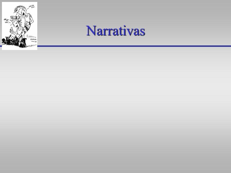 Narrativas Posibilidad de la crónica (en lo oral y lo escrito): se desembarazan de explicaciones.Posibilidad de la crónica (en lo oral y lo escrito): se desembarazan de explicaciones.
